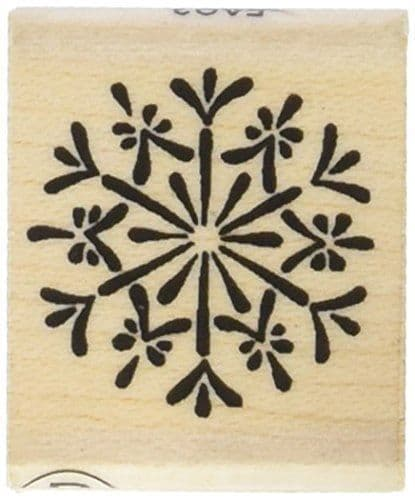 Snowflake Rubber Craft Stamp, Christmas Craft Ink Stamps, DIY Winter Wedding Favours, Christmas Gift Tags, Christmas Craft, Scrapbooking